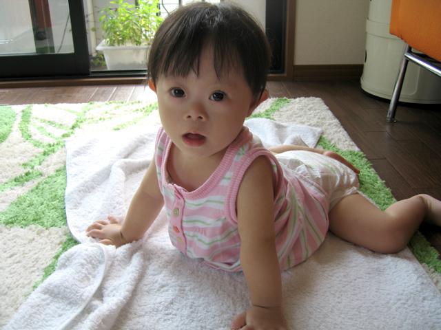 ダウン症赤ちゃん優1歳04