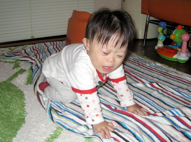 ダウン症赤ちゃん優1歳05