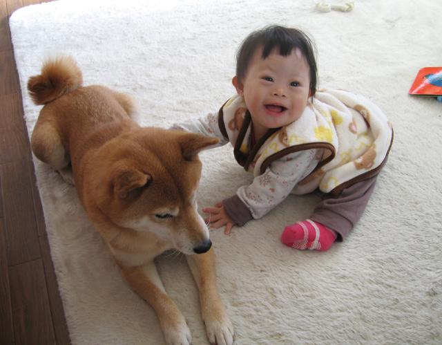 ダウン症赤ちゃん優1歳07