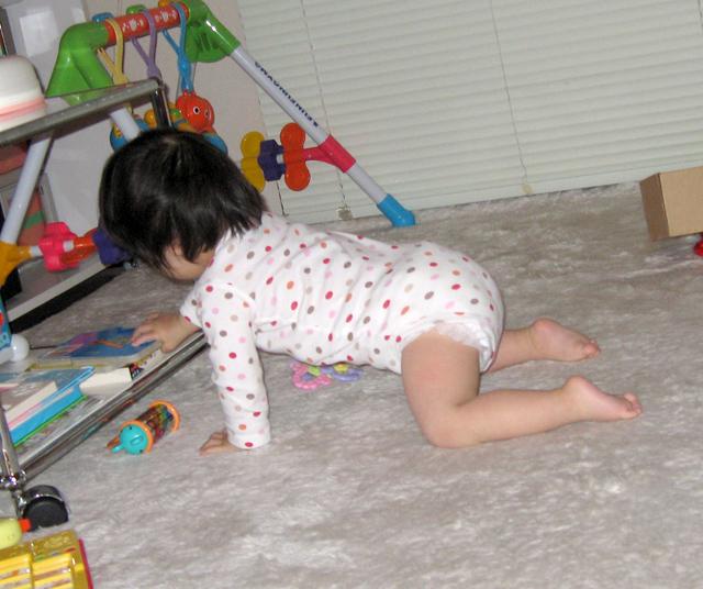 ダウン症赤ちゃん優1歳09