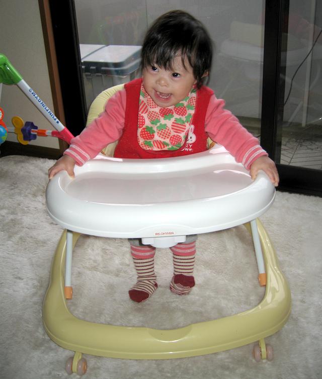 ダウン症赤ちゃん優1歳10