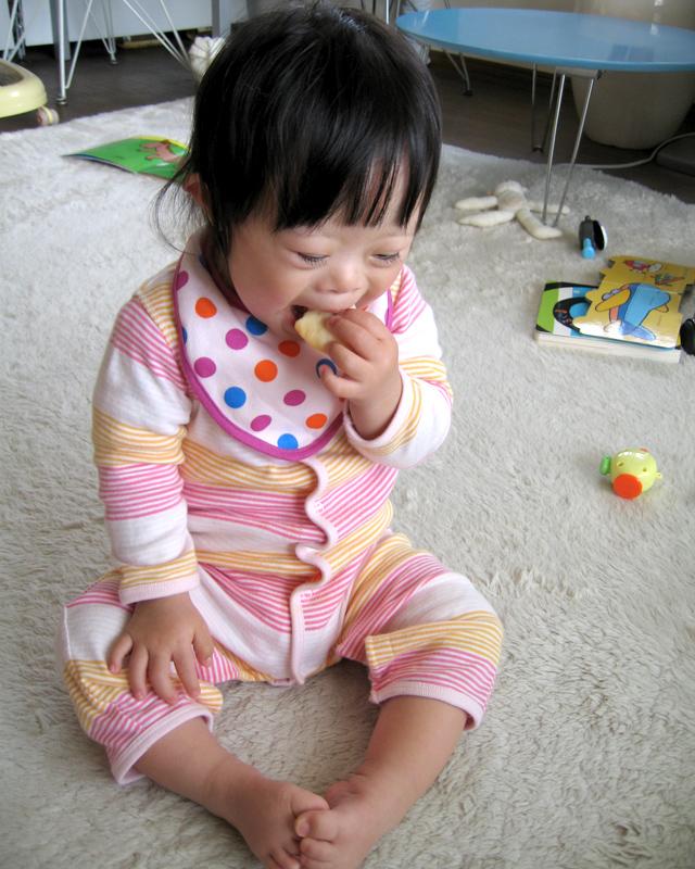 ダウン症赤ちゃん優1歳11