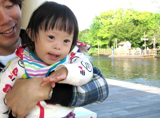 ダウン症赤ちゃん優1歳12