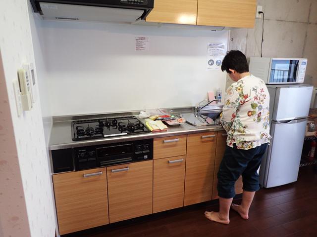 リビング併設のキッチン