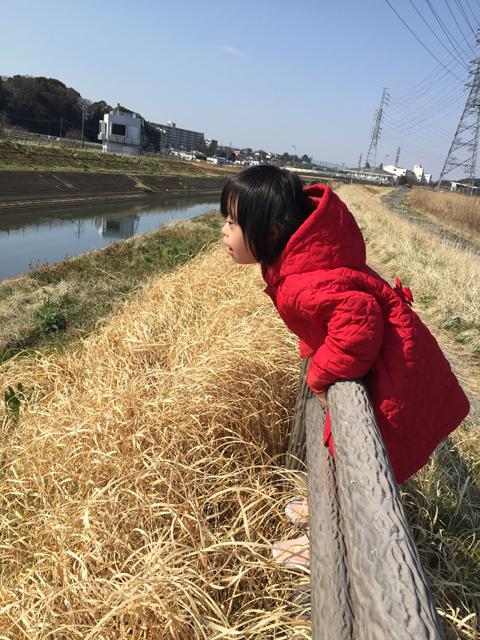 ダウン症優川沿いへ