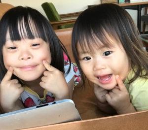 ゆすい姉妹笑顔