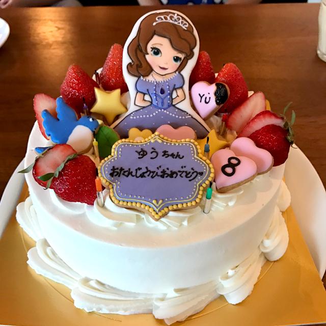 ダウン症優8歳バースデイケーキ