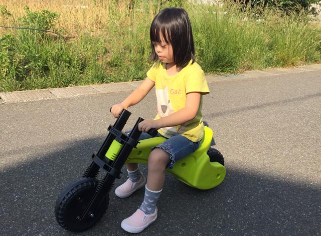 ダウン症優ワイバイク乗る