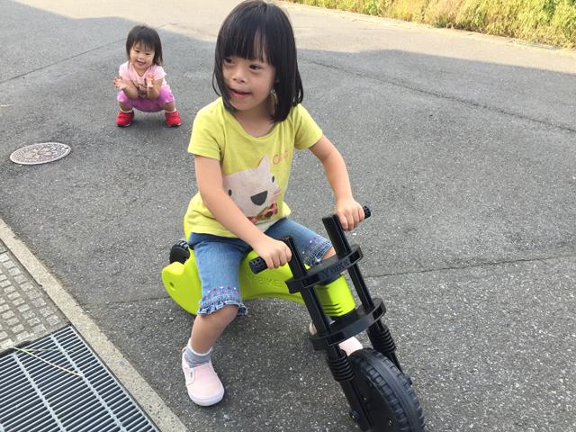 ダウン症優ワイバイク楽しむ