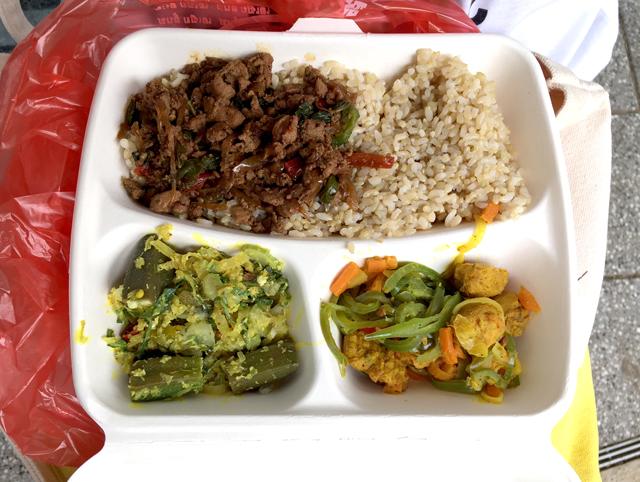 アジアンランチの弁当