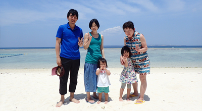 家族5人で沖縄旅行