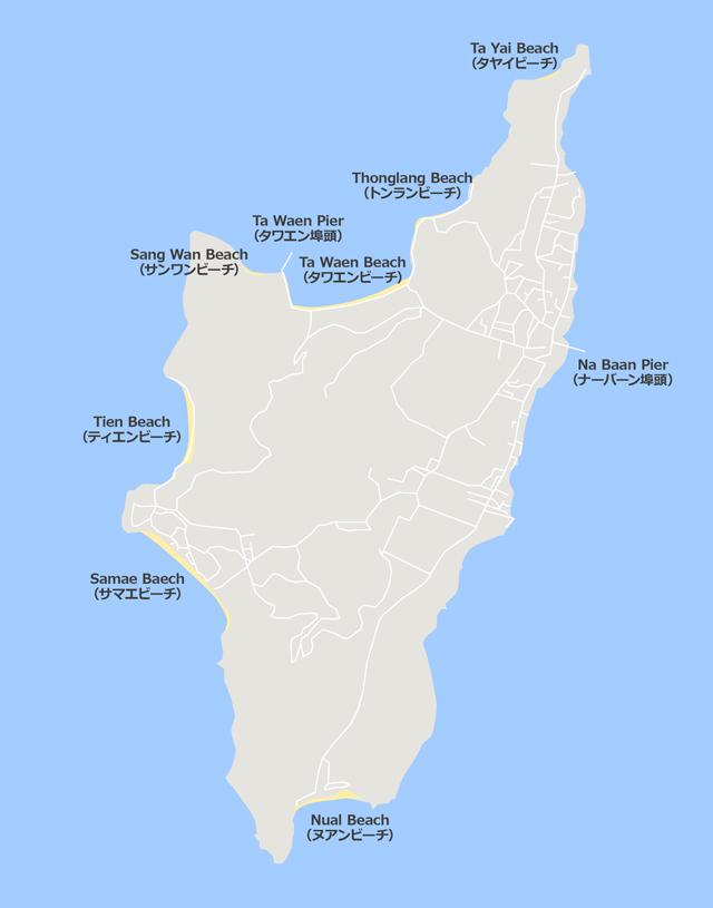 ラン島ビーチマップ