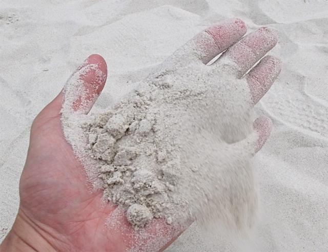 タワエンビーチの砂