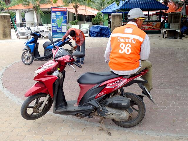 Ko Lan bike taxi