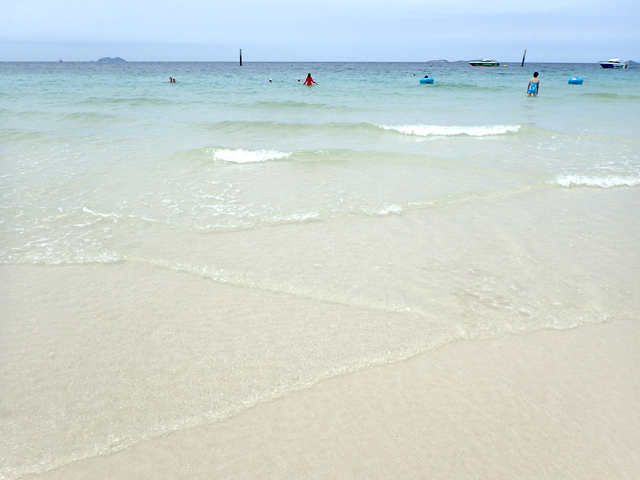 ラン島サマエビーチの砂浜