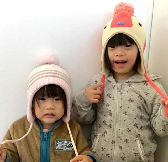 ダウン症優と翠帽子