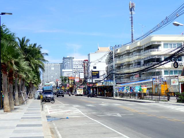 ジョムティエンビーチのメインストリート
