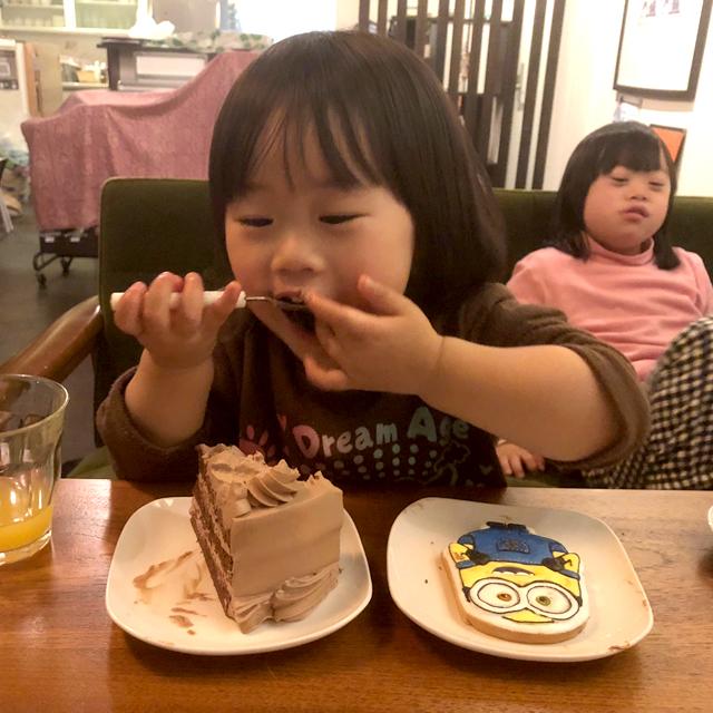 翠3歳バースデーケーキ6