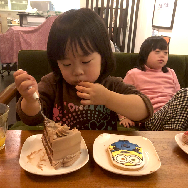 翠3歳バースデーケーキ7