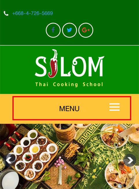 シーロム・タイ・クッキング・スクールのホームページ