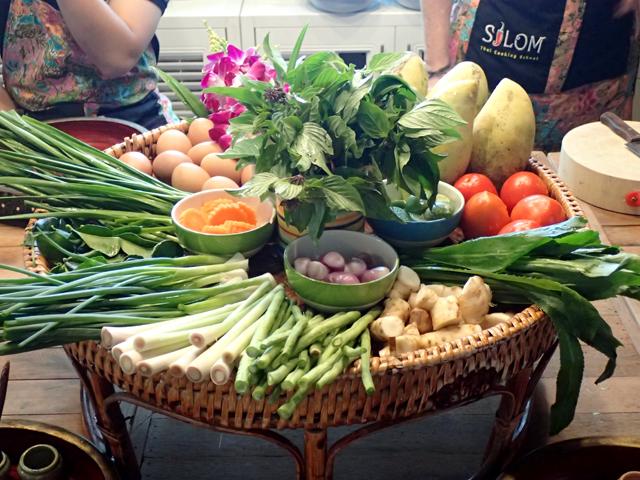 シーロム・タイ・クッキング・スクールの今日使う野菜