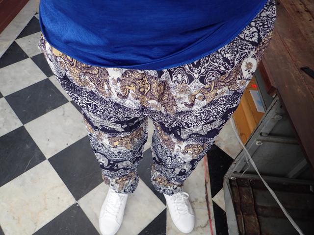 買った薄めのズボン