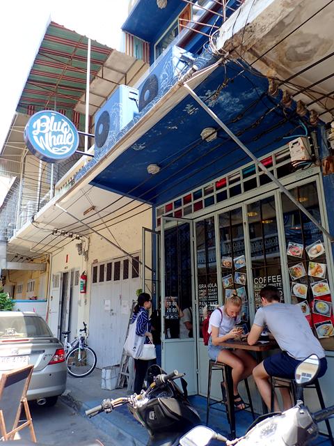 Blue Whale Cafe(Blue Whale Maharaj-Wat Pho.)の入口
