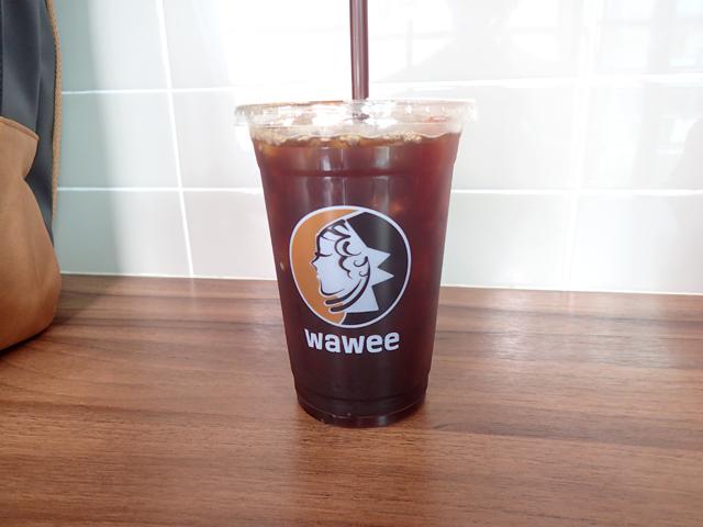 ワーウィーコーヒーのアイスコーヒー