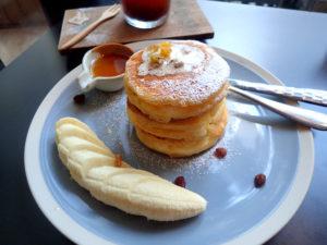 Iwane goes natureのリコッタチーズのパンケーキ