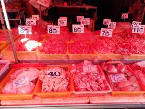 クローントゥーイ市場の肉屋