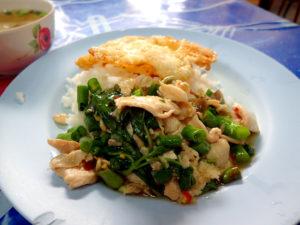 ウタイの鶏肉のガパオライス